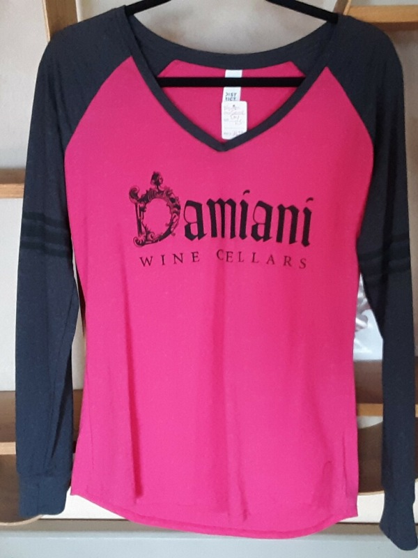 Woman's Game Day Long Sleeve V-Neck Fuchsia Medium