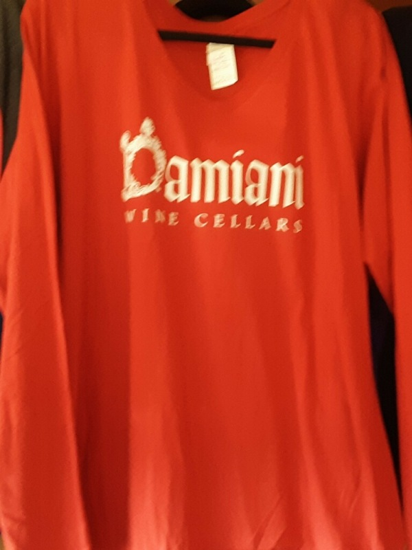 Women's Long Sleeve V-Neck Red Medium
