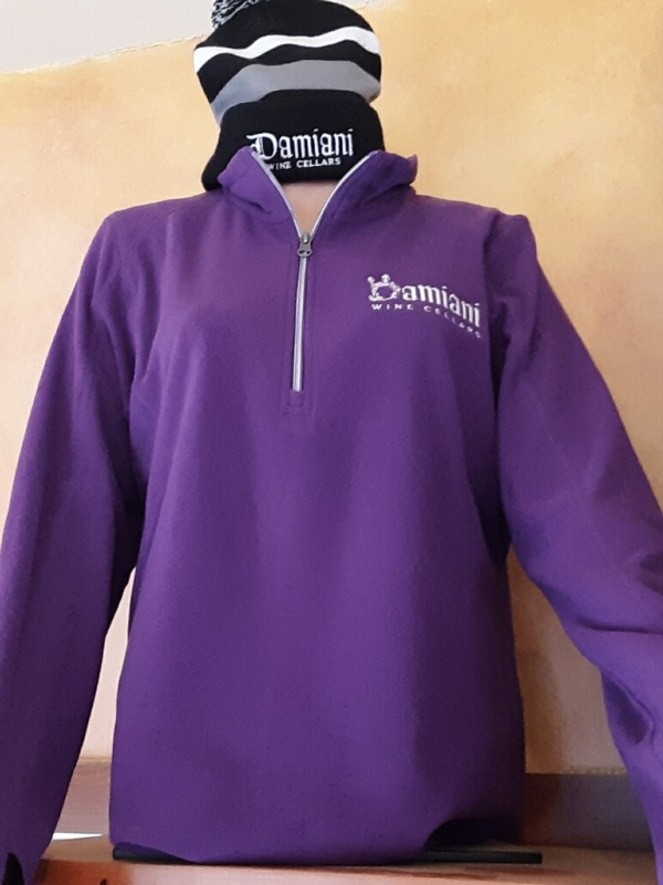 Women's 1/2 Zip Fleece, Amethyst, XL