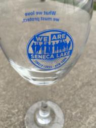 We Are Seneca Lake Goblet | Item No. MRCH-WERSENECAGLASS